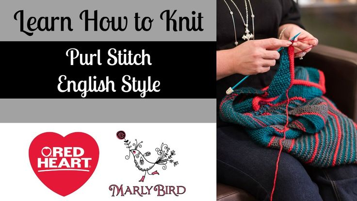 Knitting Styles English : Marly bird teaches you how to work the purl stitch using