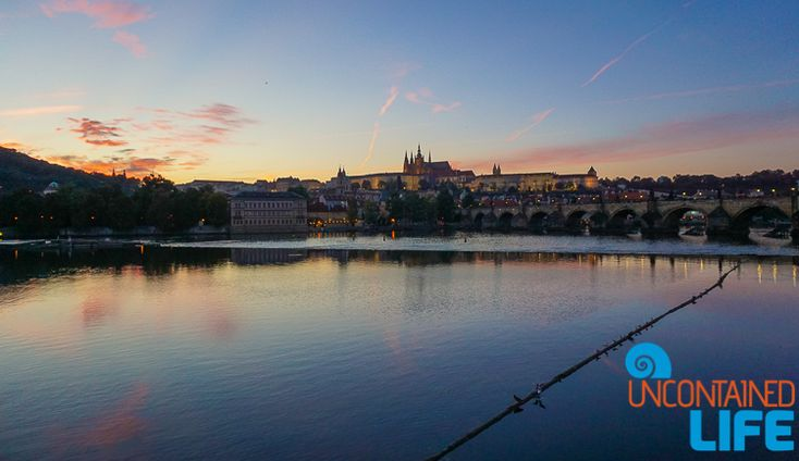 Prague Castle, the Charles Bridge, and a gorgeous sunset. How can you not want to book your plane ticket to Prague ASAP? Czech Republic, Uncontained Life