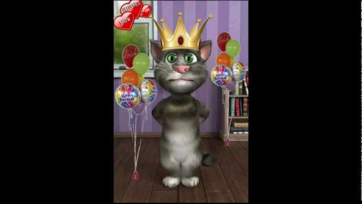 Gato Tom cantando cumpleaños feliz canción infantil para niños con letra...