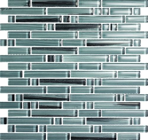 Epoch Tile Peltro Random Strip Glass Mosaic Wall Tile At Menards