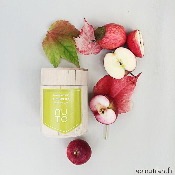 Voici un délicieux thé bio, fruité et réconfortant, parfait pour les journées d'automne… ♡Lesinutiles.fr♡ Nute organic tea Automne - Thé bio Automnal à la pomme et au coing.