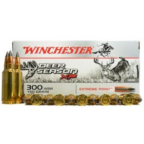 300 WSM rounds are a great rifle alternative to the usual 300 Winchester Magnum rounds.  Some even say that the recoil feel is reduced.  They're available through our online ammunition store.