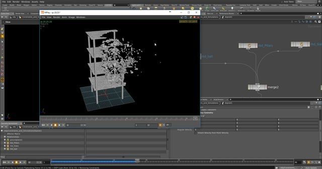 In this beginner tutorial series, we will look how how to do a basic destruction simulation in Houdini 15 with bullet. We will create a basic model in maya and then export it to houdini and create some basic Glue constraints. EDIT - Chapter 4 - https://vimeo.com/191848188