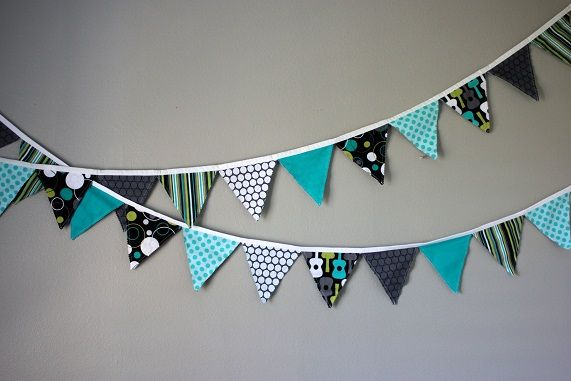 fabric birthday banner bunting how to
