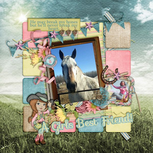 Saddle Up Susie and Cowgirl Lingo by Wendy Tunsion Designs   Squared Up CU Templates by Inspired By You Designs