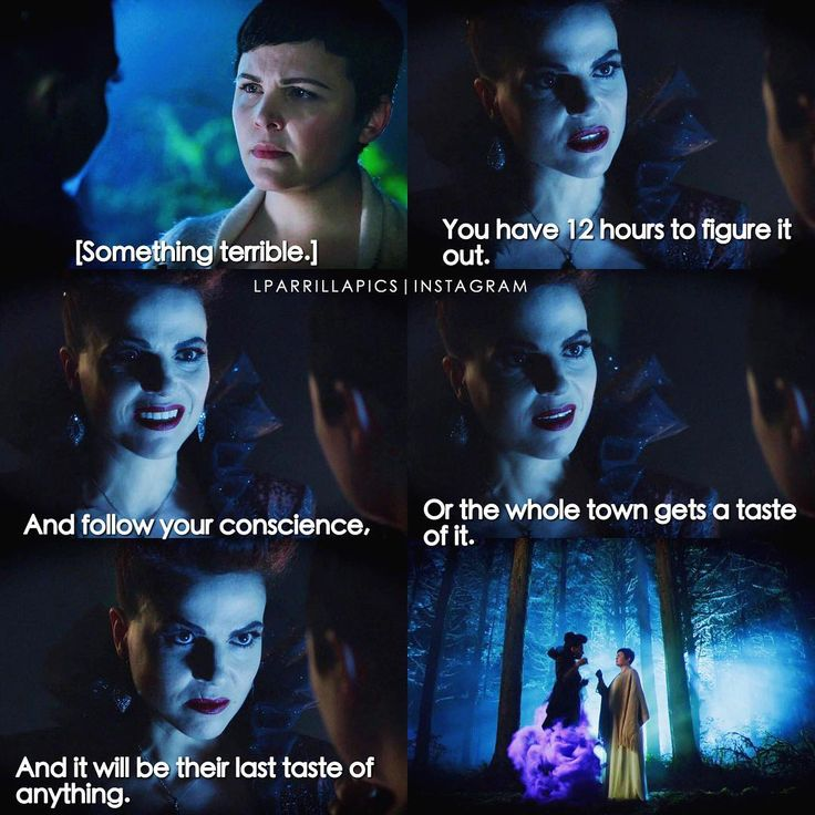 """You have 12 hours to figure it out. And follow your conscience, or the whole town gets a taste of it"" - The Evil Queen and Snow #OnceUponATime (by Lparrillapics)"