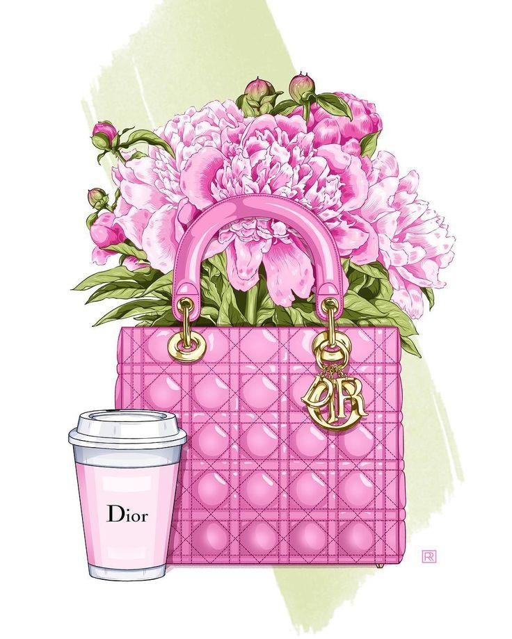 #dior #flowers #peony #illustration #fashionillustrations #graphicdesign #pink #fashion #vogue #bagflowers #bouquet #diorbag #watercolor #coffee #пионы #цветы #графика #иллюстрация #мода #букет #иллюстраторцветы #сумка #акварель #кофе