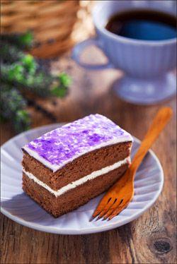 Шоколадно-лавандовый торт