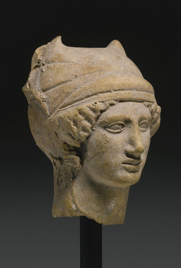 Ancient Greece. A Greek Terracotta Head of a Woman, Tarantine, circa early 4th…