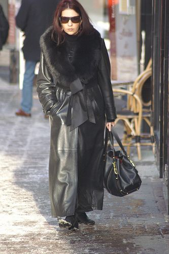 111 best Fur Coats and Leather Coats images on Pinterest   Leather ...