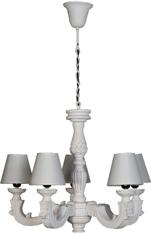 Carved Cream Chandelier Fran from Out There Interiors | Chandeliers - furnish.co.uk
