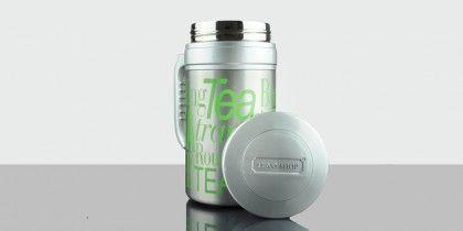 TravelTea Sport Green Mug térmico de diseño exclusivo Tea Shop, para que puedas llevar tu té contigo a todas partes. Mantiene la temperatura más de 12 horas. La forma más práctica de disfrutar de tu té favorito.