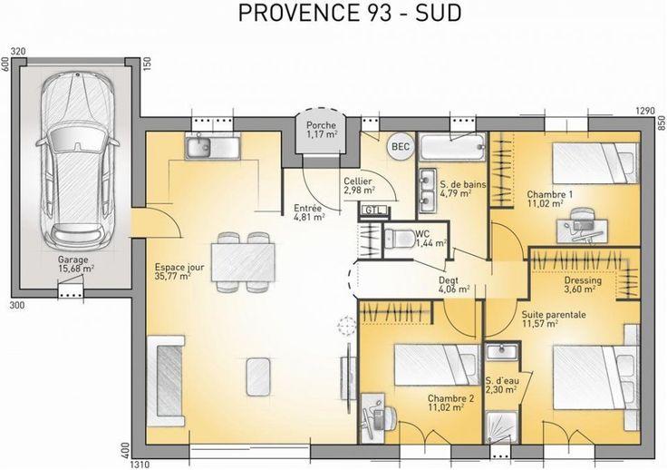 17 best images about plan maison on pinterest villas studios and provence. Black Bedroom Furniture Sets. Home Design Ideas