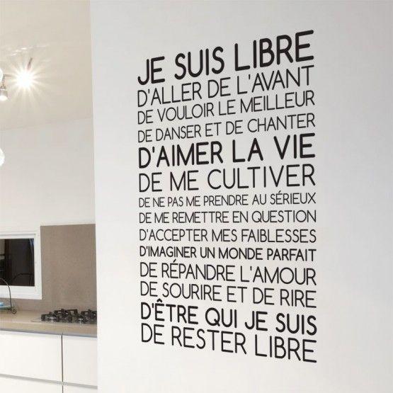 Sticker Texte Je suis Libre – Cynthia Labat