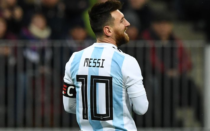 Download wallpapers Lionel Messi, soccer, football stars, Argentinean National Team, footballers, Messi, match, Leo Messi