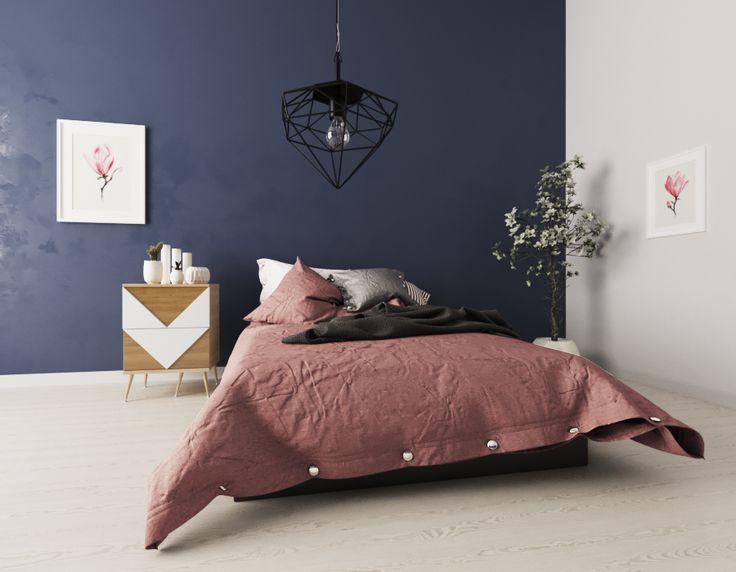 Прикроватная тумба Woo Twins в интерьере спальни. #прикроватнаятумба #bedroomdecor #bedroomdesign #midcentury #скандинавскийстиль #скандинавскийинтерьер #russiandesign
