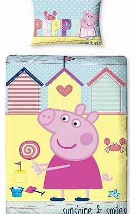 Peppa Pig Seaside Single Duvet Cover 100% official merchandise. Brand new design!! Colour: Various. http://www.comparestoreprices.co.uk//peppa-pig-seaside-single-duvet-cover.asp