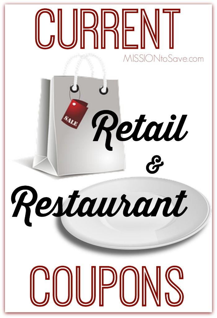 Current restaurant coupons
