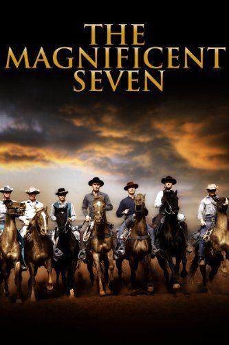 The Magnificent Seven, 1960: Yul Brynner, Brad Dexter, Steve McQueen, Charles Bronson, Robert Vaugh, Horst Bucholtz, James Coburn, and Eli Wallach as the outlaw leader.