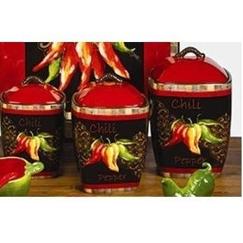 1000+ images about Red chili pepper decorations for the kitchen on Pinterest Red green, String ...