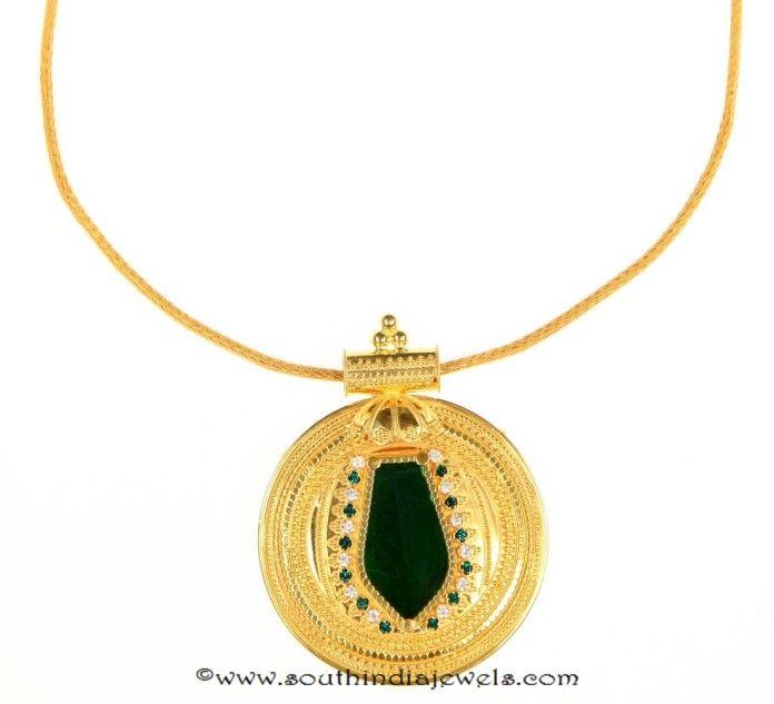 Kerala Style Gold Short Necklace