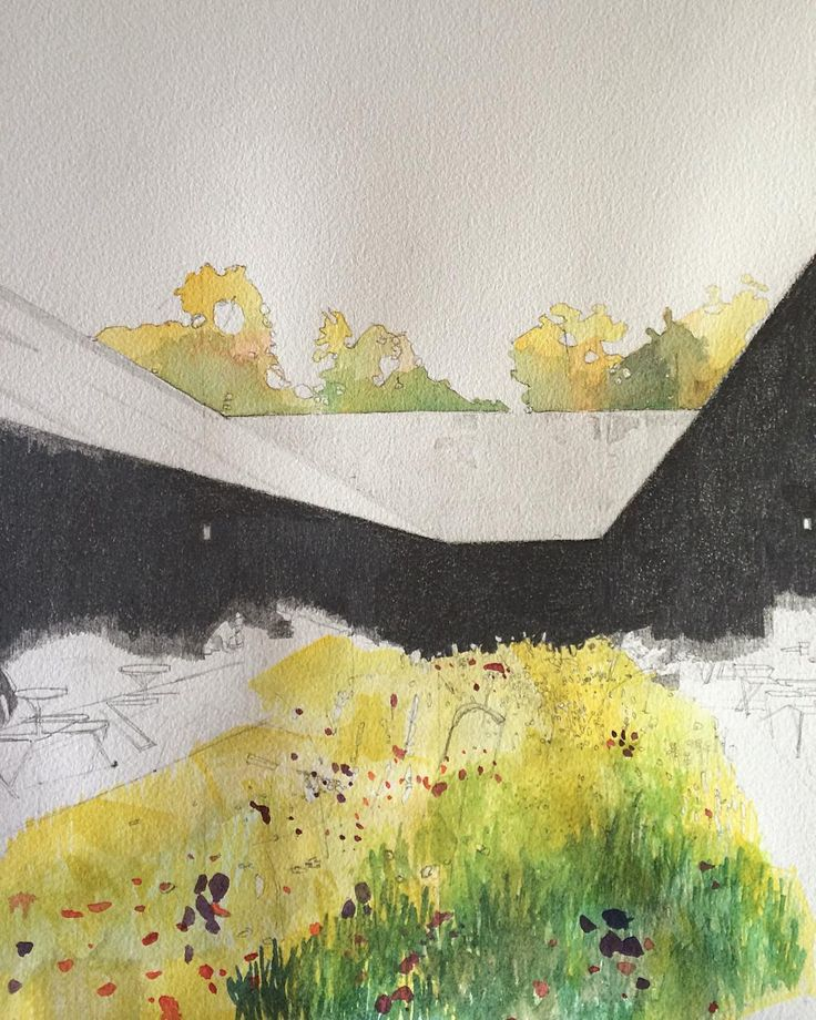 17 best images about architecture sketches on pinterest for Piet oudolf serpentine gallery