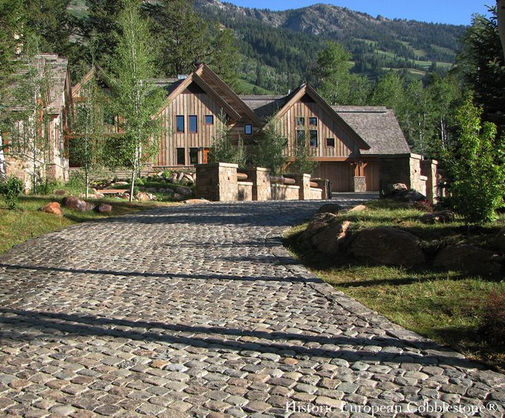 Marble Block Home : Best images about granite cobblestone driveways