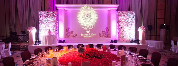 Purple wedding stage hong kong wedding planners for Asian wedding stage decoration manchester