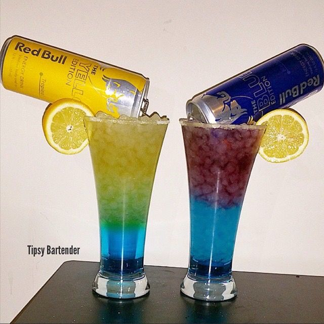 Tropical Red Bull Mixed Drinks
