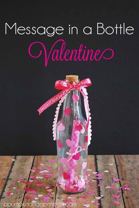 DIY Message In A Bottle Valentine Craft