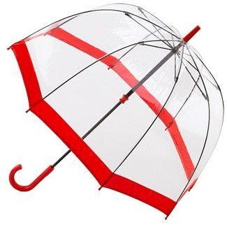 hopono propose Parapluie transparent cloche rouge Birdcage Fulton - 1748