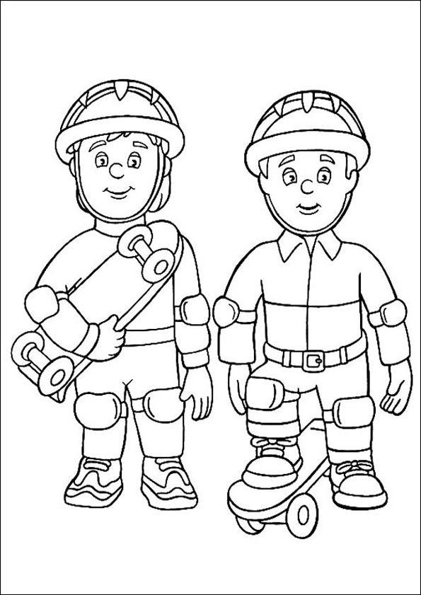 Feuerwehrmann Sam Zum Ausmalen 2 Ausmalbilder Feuerwehrmann Sam Ausmalbilder Feuerwehr Ausmalbilder