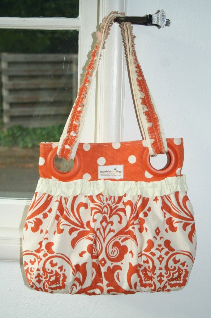 HANDBAG Tutorial - So cute!: Diapers Bags, Bags Patterns, Summer Bags, Handbags Tutorials, Gatherings Bags, Bag Tutorials, Cute Handbags, Handbag Tutorial, Sewing Tutorials