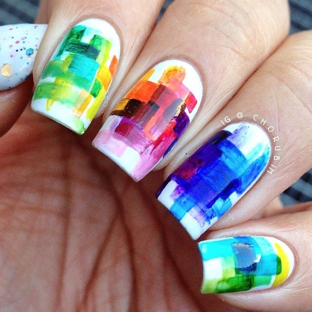 Beautiful Bright Colored Nails ❤
