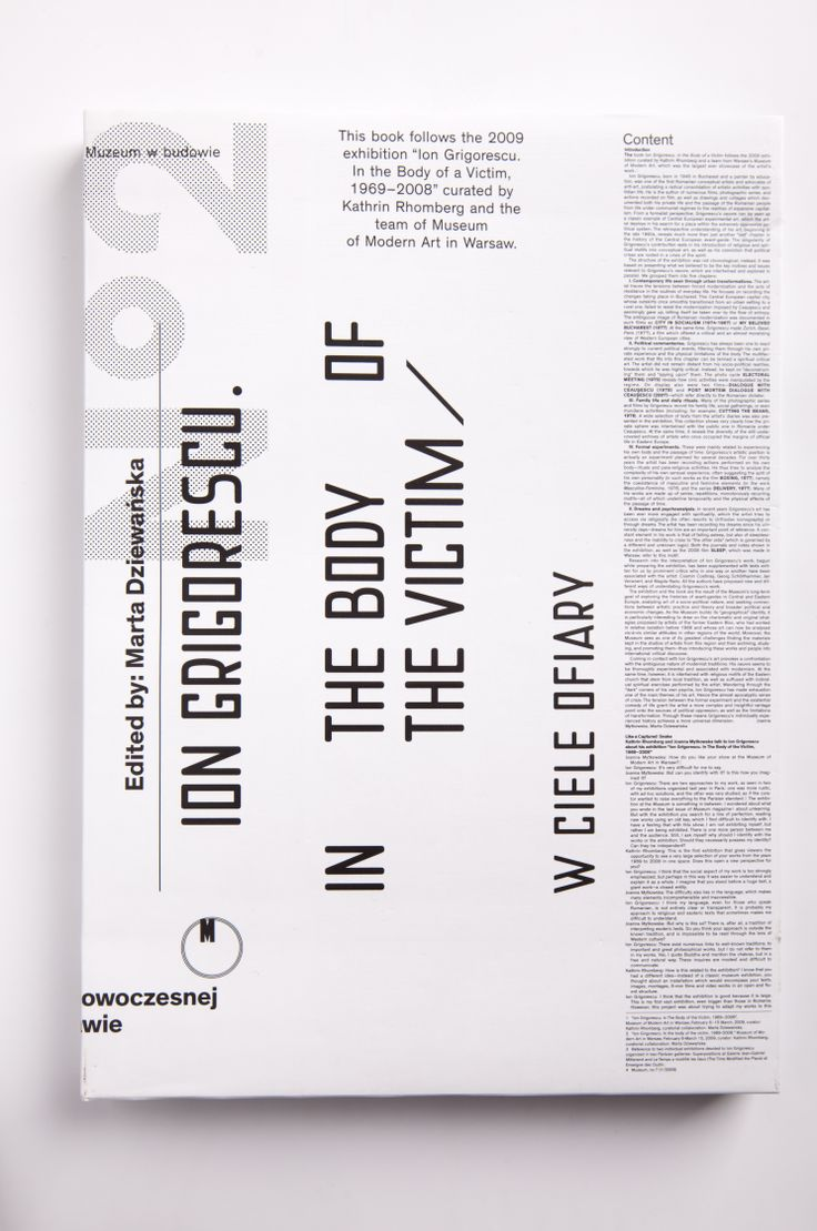 """""""Ion Grigorescu. In the Body of the Victim"""". The book follows the 2009 exhibition """"Ion Grigorescu. In the Body of a Victim, 1969-2008"""" curated by Kathrin Rhomberg and the team of Museum of Modern Art in Warsaw."""