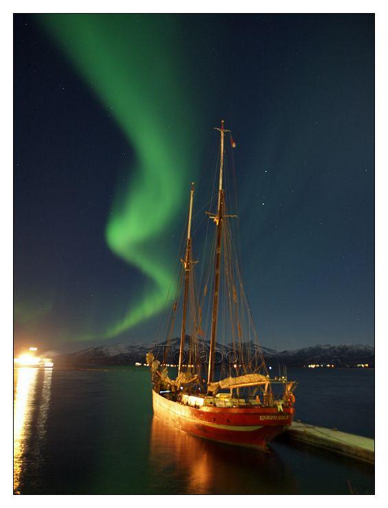 Lofoten - Noorderlich - aurore boréale © Paul Kerrien                                                                                                                                                                                 Plus