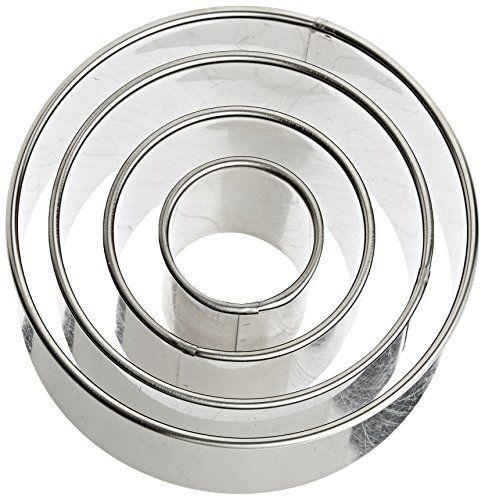 Ateco's Round Cutter Set includes four cutters. Cutters made of stainless steel and measure 1 3/4-inch high. Cutters nest within each other which saves space and time. By Ateco. Since 1905, Ateco has supplied fine restaurants and bakeries with quality built, specialty baking tools. Ateco... - http://kitchen-dining.bestselleroutlet.net/product-review-for-ateco-1440-plain-edge-round-cutters-in-graduated-sizes-stainless-steel-4-pc-set/