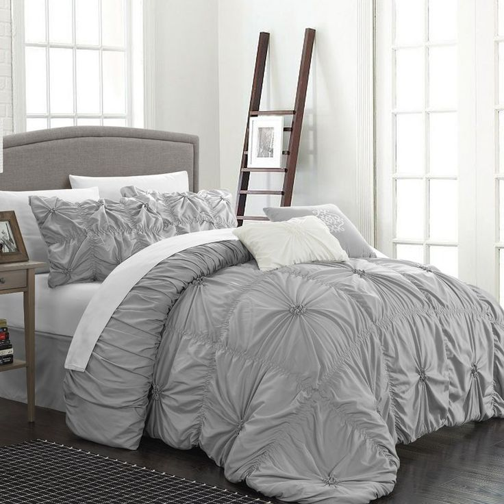 Add A Touch Of Elegance To The Master Suite Or Guest Room With This Lovely Comforter  Set, Featuring A Stylish Ruffled Design.