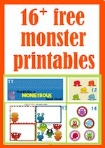 MeinLilaPark – digital freebies: free monster printables – monster tags, toppers, paper toys, writing papers, coloring pages and more – Druckvorlagen mit lustigen Monstern