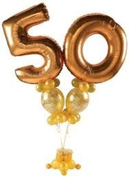 Our 50th birthday is our Golden Anniversary - how appropriate!