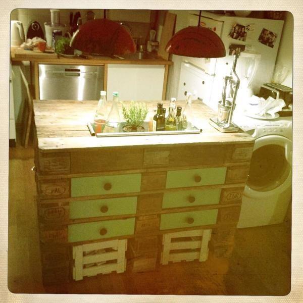 Küchenblock aus Europaletten » Küchenmöbel, Schränke aus München Au
