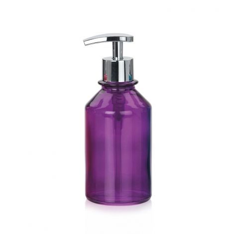 Purple glass soap dispenser toilets bathroom beauties for Purple glass bathtub