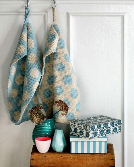 Flotte hæklede håndklæder - Hendes Verden