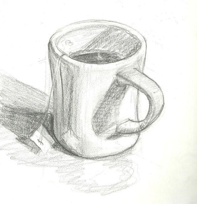 Кружка в картинках карандашом