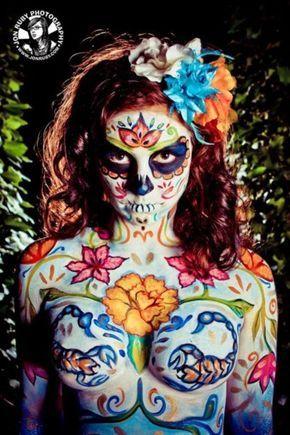 body paint-dia de los muertos