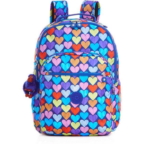 Kipling Seoul Large Printed Laptop Backpack (7.020 RUB) ❤ liked on Polyvore featuring bags, backpacks, festive beauty blue, rucksack bags, knapsack bag, blue bag, laptop backpack and day pack backpack