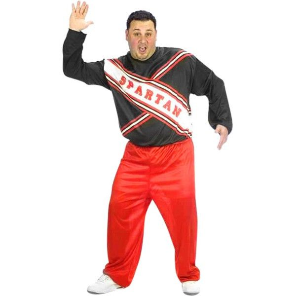 Our Plus Size Male Spartan Cheerleader Costume is the classic Saturday Night…