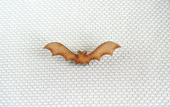 Wooden Bat Brooch by ShopSparkleMotion.  A delightful natural wooden bat brooch with beautiful darkened edges.  https://www.etsy.com/uk/listing/218964414/wooden-bat-brooch-woodland-animal?ref=shop_home_active_7