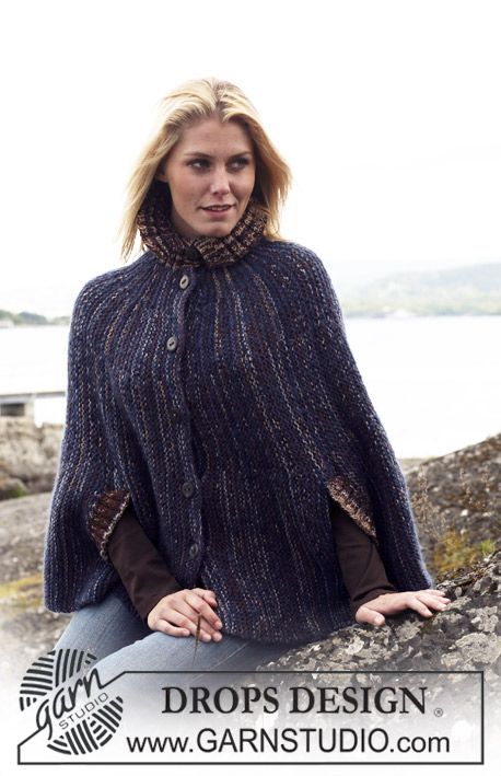 96 best knitting capecapelet images on pinterest knitting drops cape in vivaldi and fabel dt1010fo