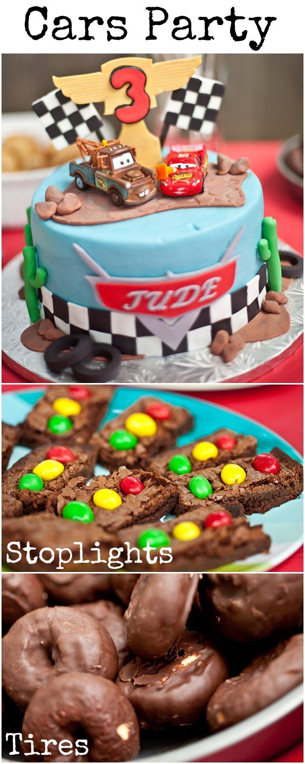 Disney Cars party ideas - love those traffic lights